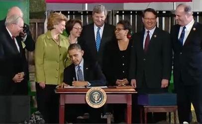 Barack Obama Signs Farm Bill Into Law