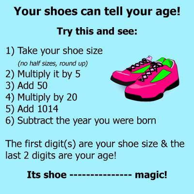 shoes tell your age