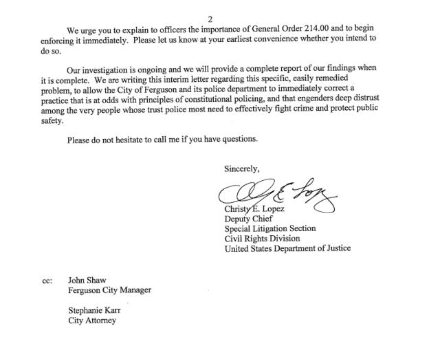 DOJ Letter to Ferguson2
