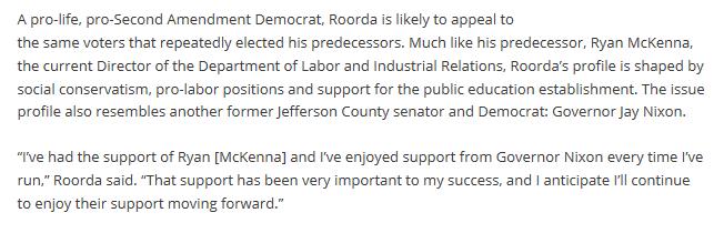 Jeffrey Roorda and Governor Nixon