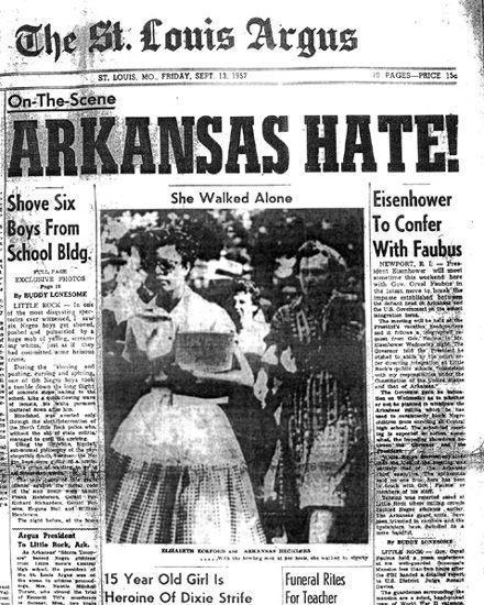 The Little Rock Nine- She walked alone
