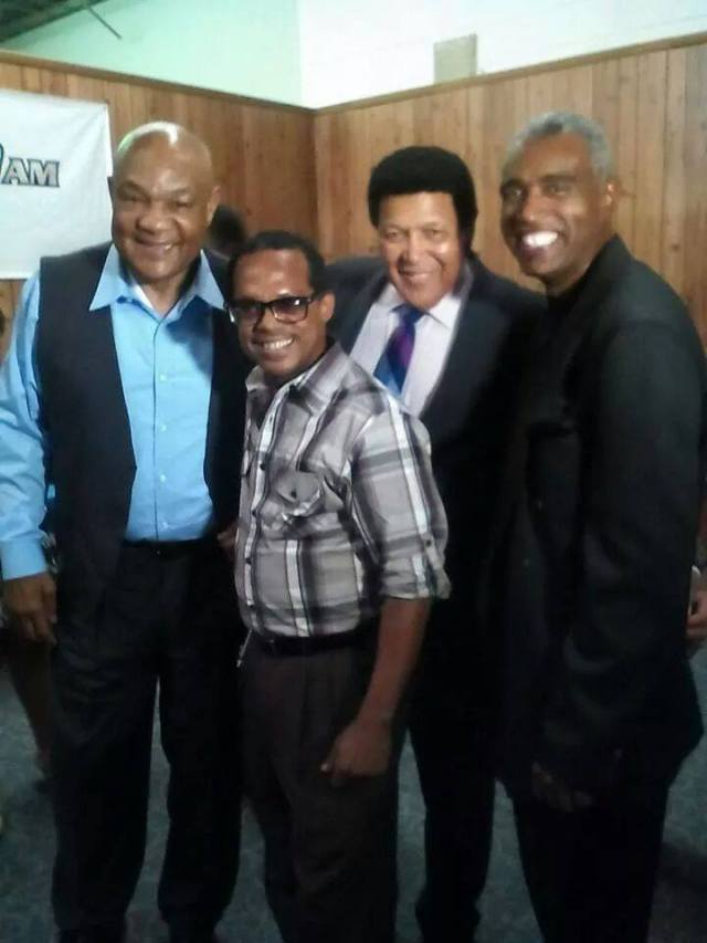 Dee Boggy and his daddy Chubby Checker.