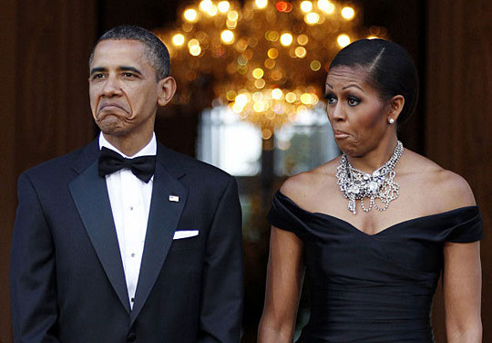 funny barack michelle obama face