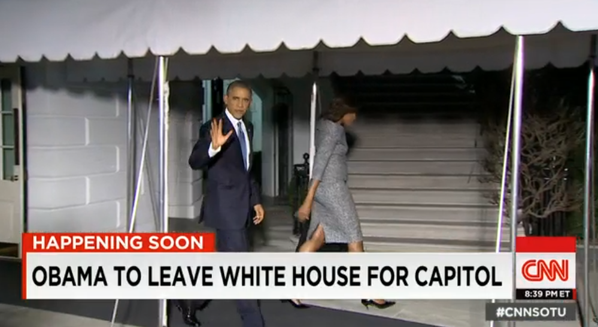 Barack and michelle leave for the capitol
