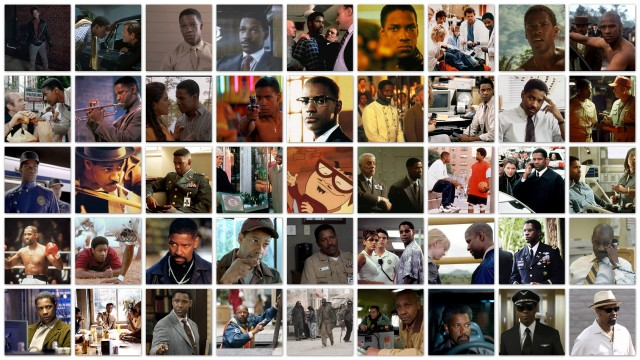 Denzel the many faces of Denzel Washington