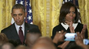 Barack cites Trayvon Martin at black history reception