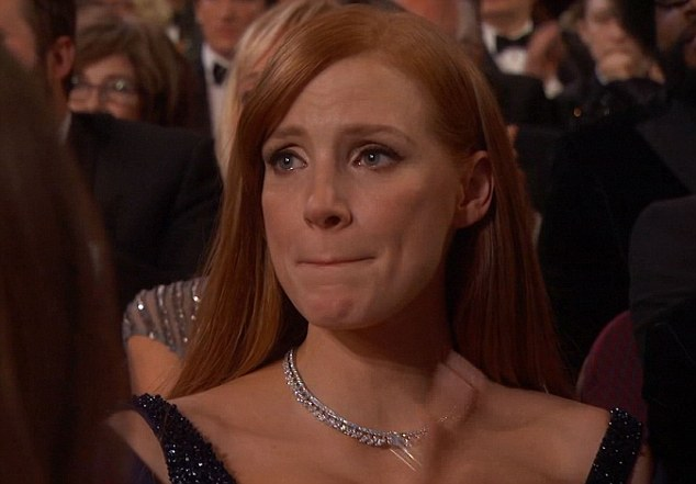 Jessica Chastain's eyes were teary