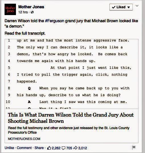 Darren Wilson under oath