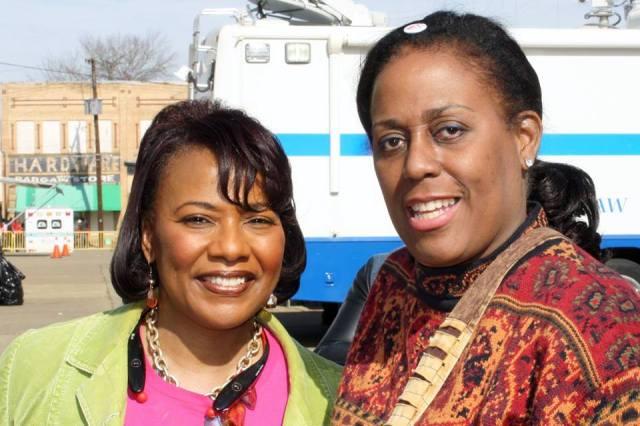 Mythe in Selma with Bernice King