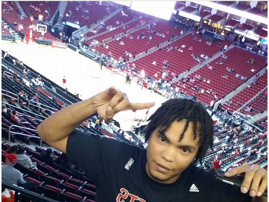 Josh at rockets game in Houston
