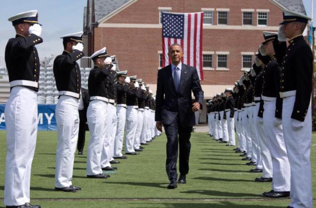 POTUS at the Coast Guard Academy
