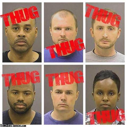 Thugs posted bail.