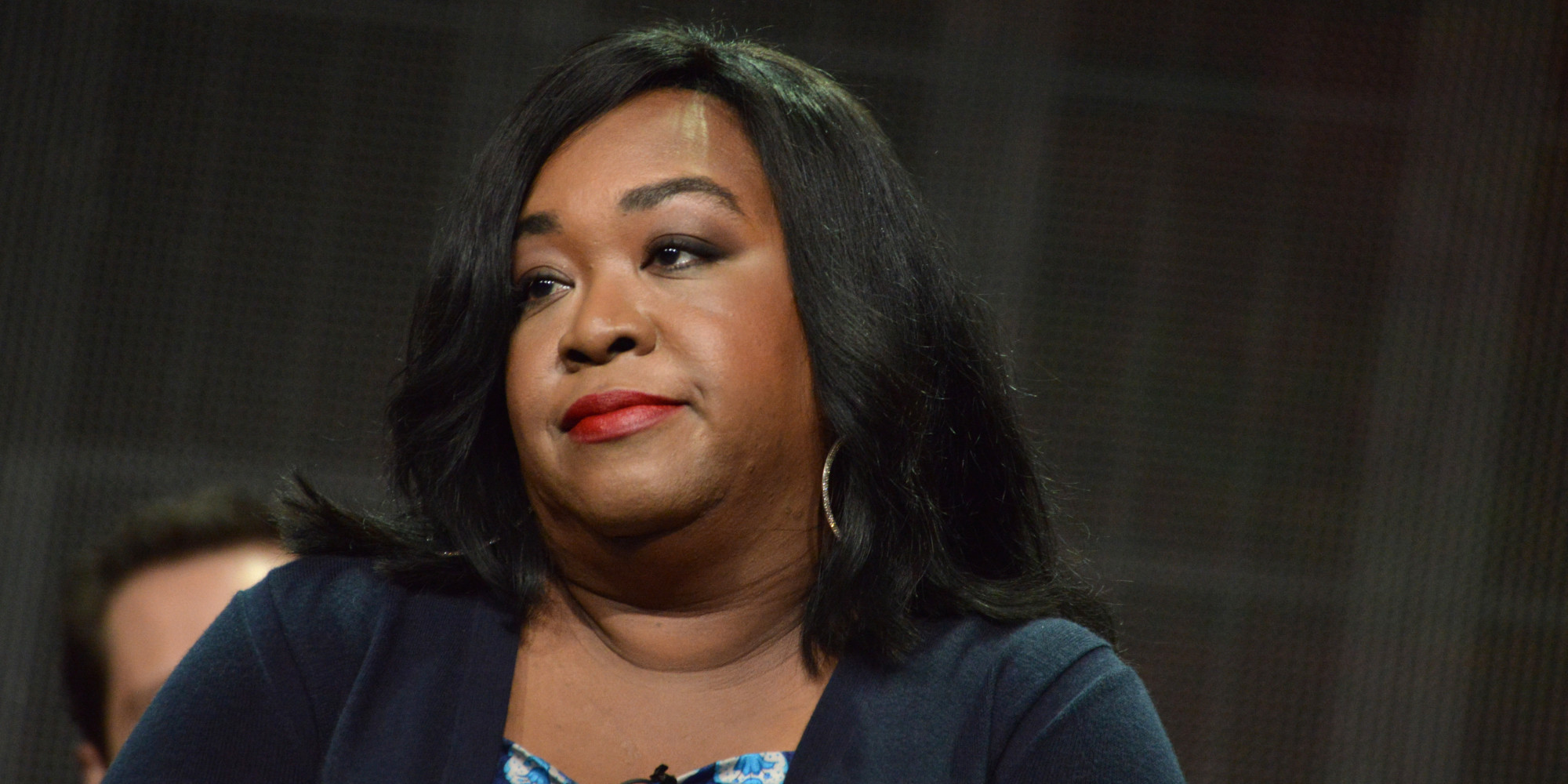 "Shonda Rhimes during the ""How to Get Away with Murder"" panel at the Disney/ABC Television Group 2014 Summer TCA at the Beverly Hilton Hotel on Tuesday, July 15, 2014, in Beverly Hills, Calif. (Photo by Richard Shotwell/Invision/AP)"
