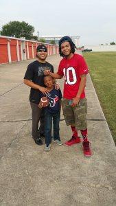 Boys at Texans Game 8