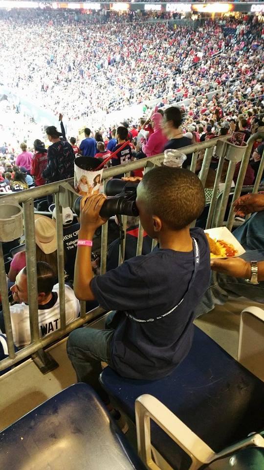 Jay enjoying the Texans game 14