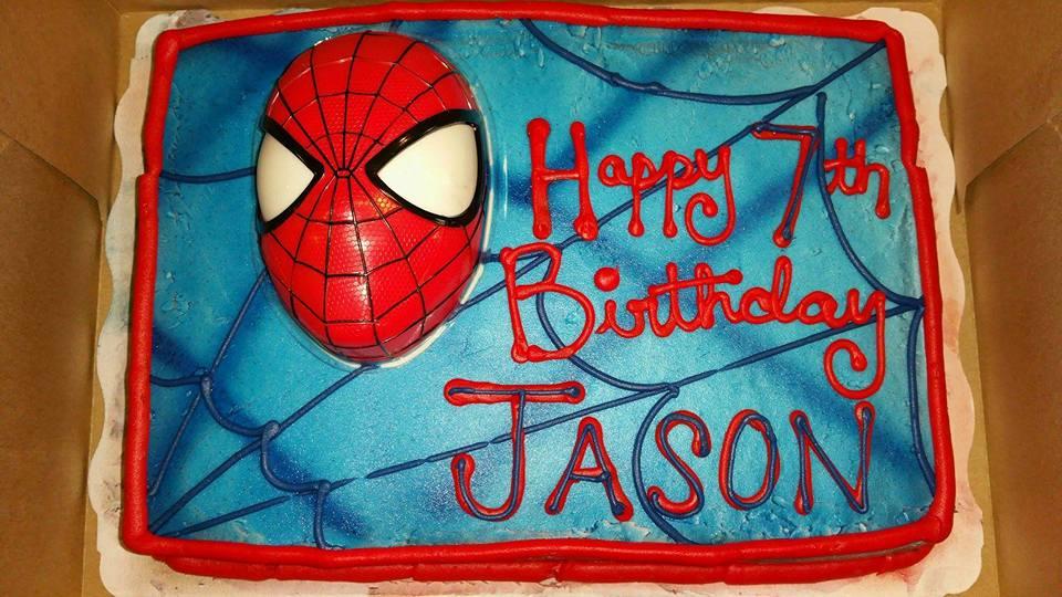 Jay's spiderman cake
