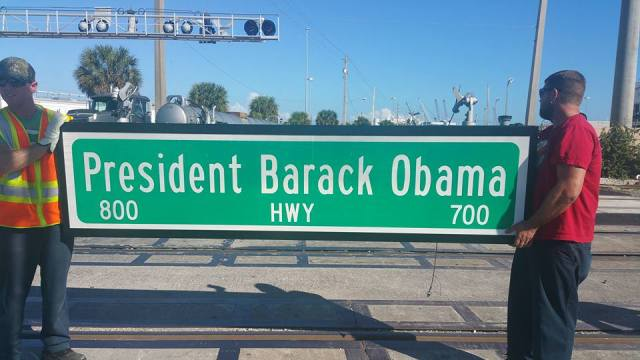 Sign President Barack Obama