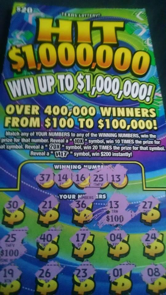 Ticket lottery win