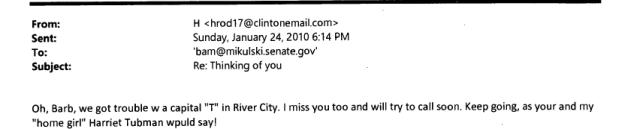 Hillary calls Harriet Tubman