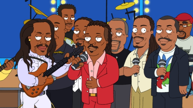 "THE CLEVELAND SHOW: Earth, Wind & Fire (guest-voicing as themselves) play at the Brown wedding in the ""You're The Best Man, Cleveland Brown"" season finale episode of THE CLEVELAND SHOW airing Sunday, May 23 (8:30-9:00 PM ET/PT) on FOX.   THE CLEVELAND SHOW ™ and © 2010 TTCFFC ALL RIGHTS RESERVED."