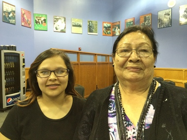 Native Americans..Rita Means, a Rosebud Sioux Tribal Council member, and her granddaughter Shylee Brave, who was among the tribal youth who launched efforts to repatriate the remains of tribal children