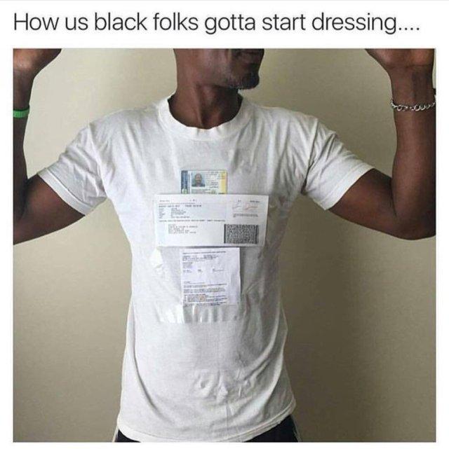 black folks gotta start dressing