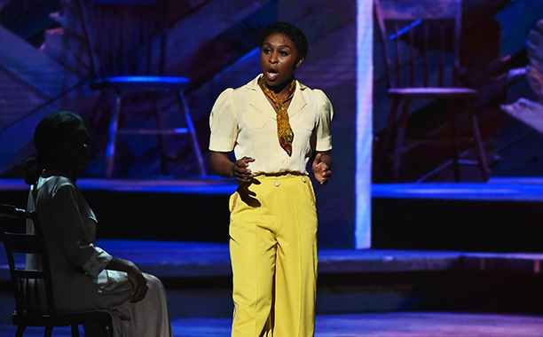 "NEW YORK, NY - JUNE 12: Cynthia Erivo of ""The Color Purple"" performs onstage during the 70th Annual Tony Awards at The Beacon Theatre on June 12, 2016 in New York City.  (Photo by Theo Wargo/Getty Images for Tony Awards Productions)"