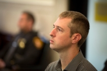 Tues., Nov. 1, 2016: A brother of Ray Tensing, who did not want to be named, listens to opening statements on the first day the jury heard the murder trial of Ray Tensing in the death of Sam DuBose. The Enquirer/Carrie Cochran The former University of Cincinnati police officer is charged with murder in the shooting death of Sam DuBose. His attorney Stew Mathews has said Tensing fired a single shot because he feared for his life.
