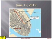 EVIDENCE: 1 of the FBI's maps of Dylann Roof's trips to Charleston. This is from 6/17/15, day of shootings.