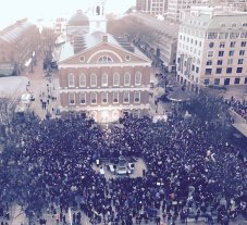 Huge crowd in #Boston for rally against #ACARepeal, in support of #Obamacare with @SenWarren @EdMarkey @marty_walsh