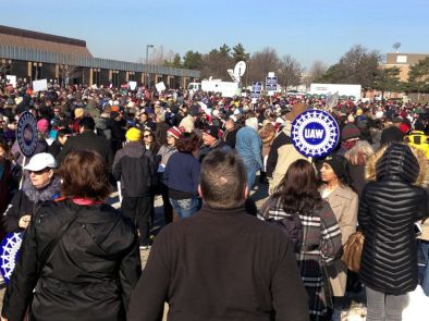 People wait for the start of a health care rally in Warren, Michigan, north of Detroit, Jan. 15, 2017.