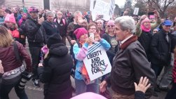 """SoS John Kerry walked through the crowd with his dog & people started cheering & then chanting, """"John Kerry. John Kerry."""""""
