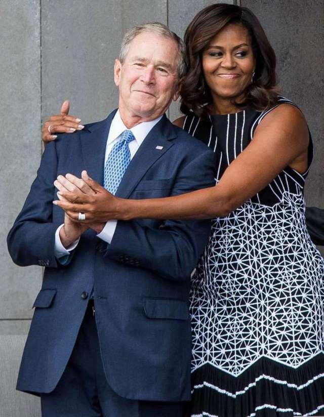 george-bush-and-michelle-obama