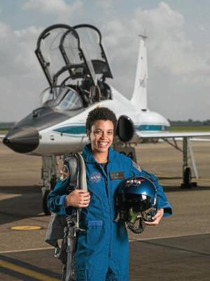 Jessica Watkins, 29, from Lafayette, Colorado She earned a Bachelor's degree in Geological and Environmental Sciences at Stanford University, and a Doctorate in Geology from the University of California, Los Angeles (UCLA). She's also worked at NASA's Ames Research Center and the Jet Propulsion Lab, and her experience includes collaboration on the Curiosity Rover. And, during the event, Flight Operations Director Brian Kelly joked 'we intend to send her to Mars one day folks.'