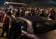 Hundreds waited overnight in a parking lot for the gates to open at 5 a.m. in hopes of getting free medical or dental treatment. MUST CREDIT: Photo by Michael S. Williamson for The Washington Post.