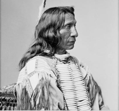 Red Cloud (Lakota: Maȟpíya Lúta), (1822 – December 10, 1909) was a war leader and a chief of the Oglala Lakota (Sioux). He led as a chief from 1868 to 1909. One of the most capable Native American opponents the United States Army faced, he led a successful campaign in 1866–1868 known as Red Cloud's War over control of the Powder River Country in northeastern Wyoming and southern Montana.