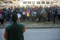 PHILADELPHIA, PA - MARCH 14: Students at Philadelphia High School of Creative And Performing Arts participate in a walkout to address school safety and gun violence on March 14, 2018 in Philadelphia, Pennsylvania. Students across the country are walking out of classes for 17 minutes to honor the lives of the 17 people killed at Stoneman Douglas High School in Florida this past February. (Photo by Jessica Kourkounis/Getty Images)