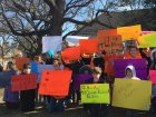 Elementary school walkout in Alexandria, Virginia. More than 65 kids participated